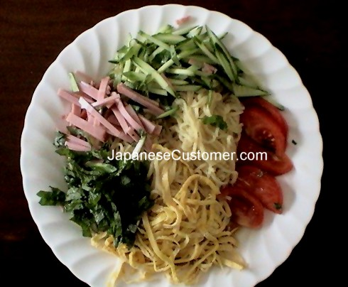 Hiyashi Chuuka Summer Meal Copyright Peter Hanami 2010