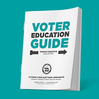 Illustration of clean elections voter guide