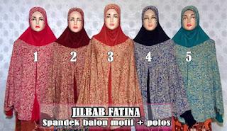 Jilbab syar'i lengan panjang model kalong motif cantik