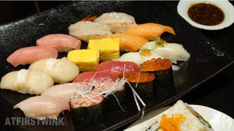 Sen-ryo sushi restaurant Hysan place mall Causeway Bay Deluxe Sushi platter