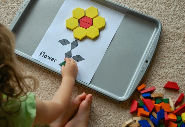 Flower pattern blocks