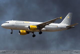 Airbus A320 of Vueling at Barcelona El-Prat