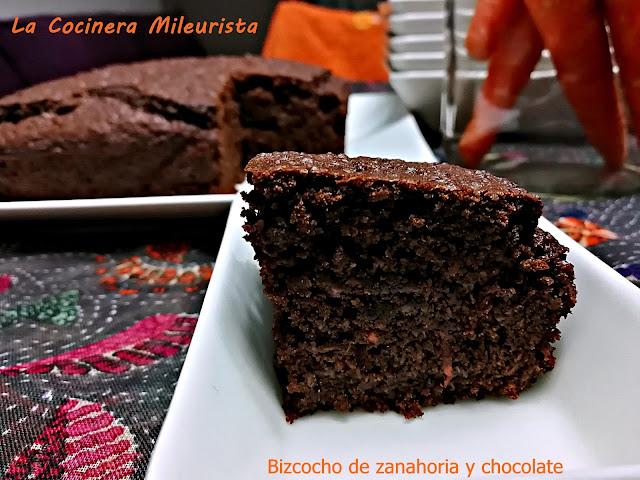 Bizcocho De Zanahoria Y Chocolate Sin Huevos Ni Leche