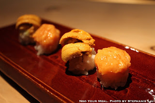 Konowata (Sea Cucumber Innards) and Uni from Hokkaido at NAOE