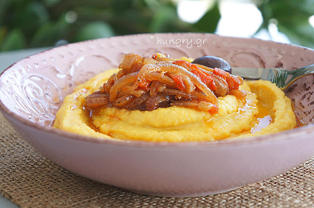 Yellow Split Pea with Caramelized Onions