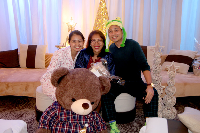 With Seda Abreeza Hotel General Manager, Ken Kapulong   and Comms Officer, Faith Dimaano
