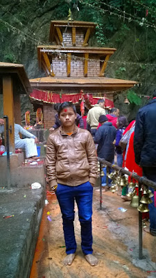Bikas Gurung at Dhorbarahi Temple