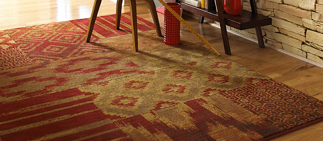 A colorful area rug adds comfort and style to any space