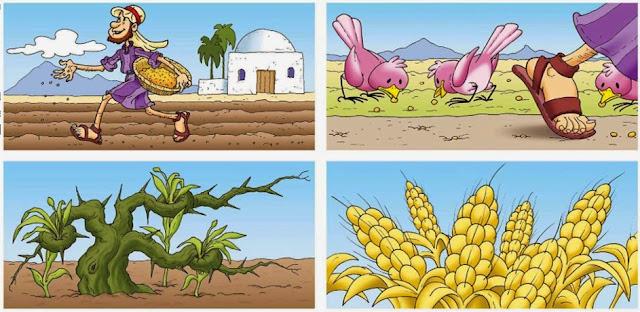 Resultado de imagen para la parabola del sembrador niños