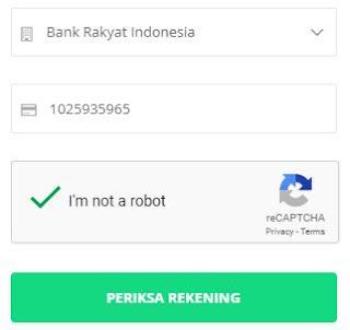 Cek nomor rekening penipu melalui situs cekrekening.id