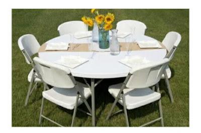 Meja Lipat dengan konsep Outdoor