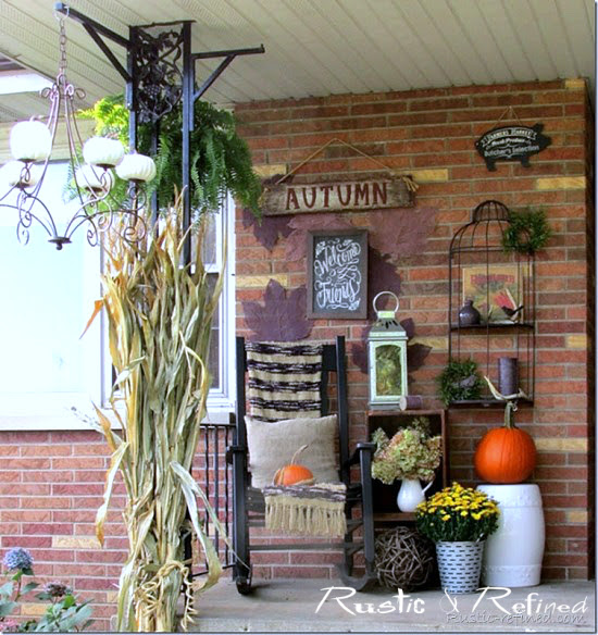 Inspiration ideas for the fall season rustic refined Small front porch decorating ideas for fall