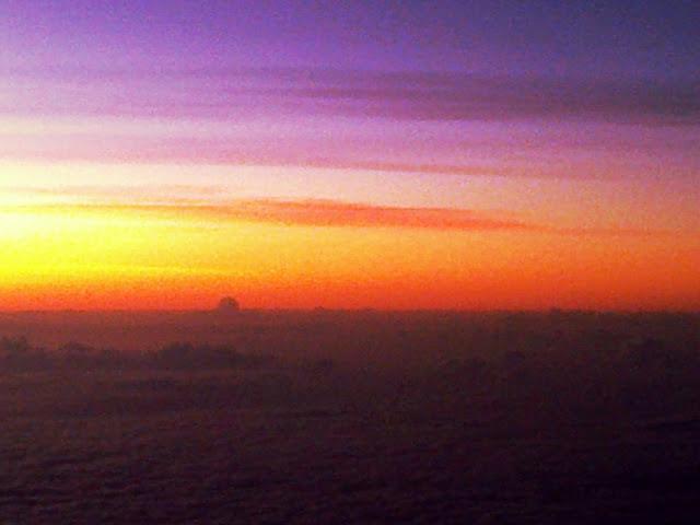 sunset plane