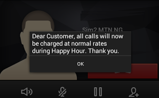 MTN Stops Happy Hour Call (Free Night Call)