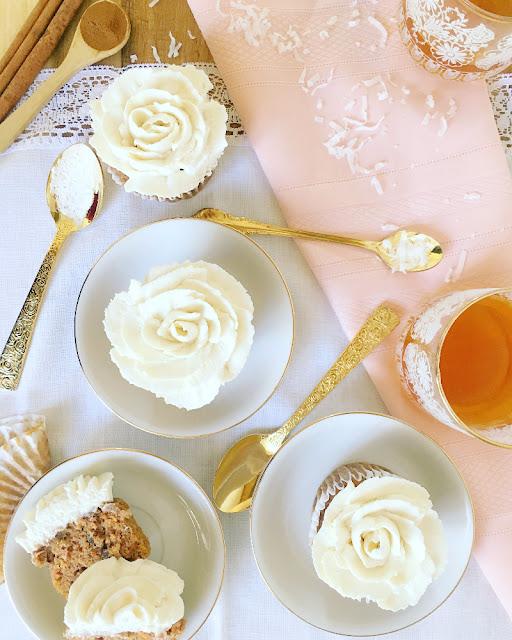 Cupcakes de zanahoria y manzana