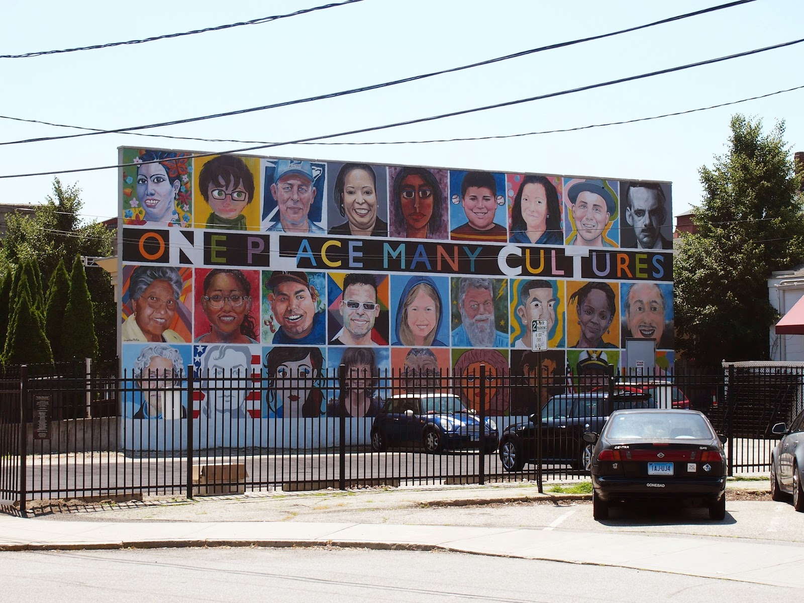 A mural of different nationalities