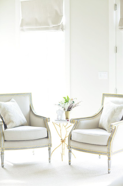 bergere chairs cream linen modern table