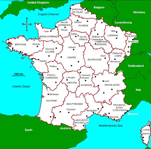 Map Of France With Neighbouring Countries.P3c3q 588 The Millau Bridge France