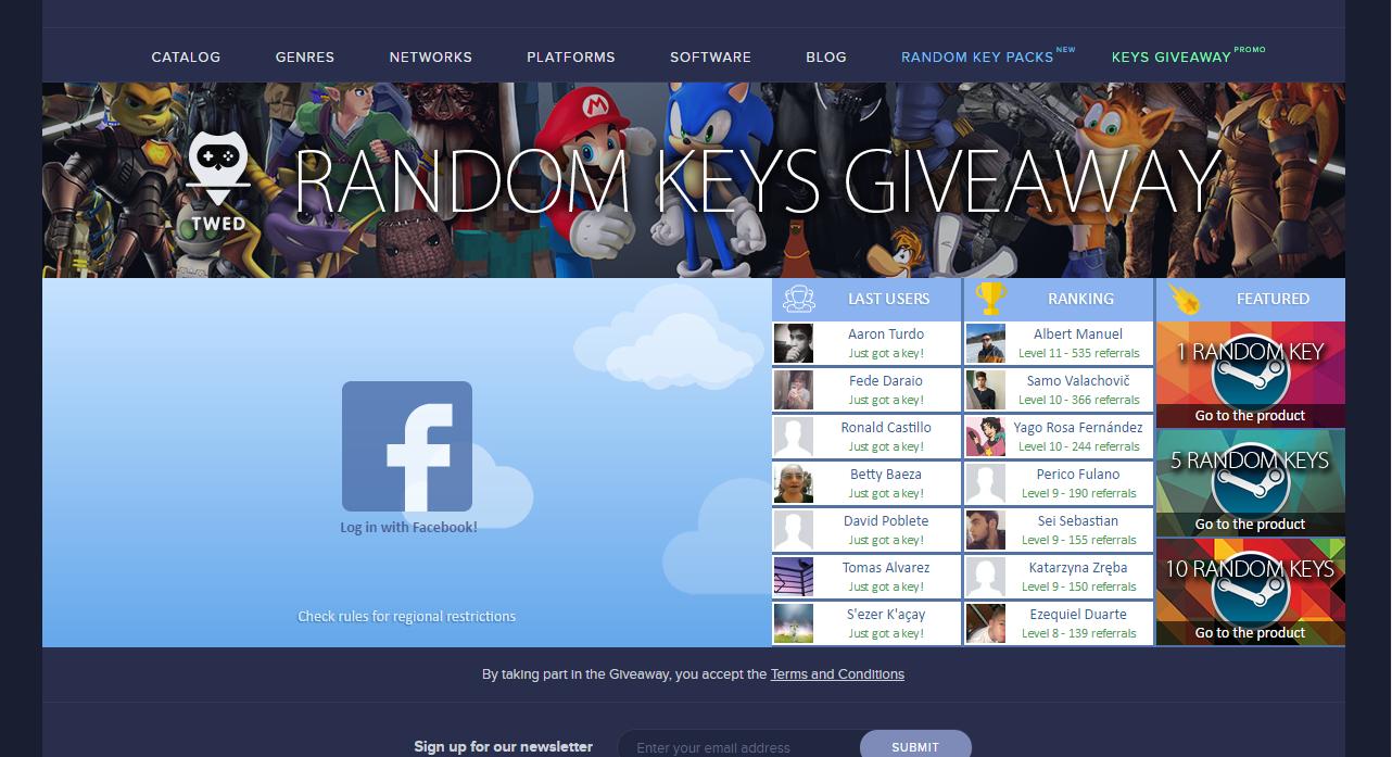 Free Steam Keys Giveaway