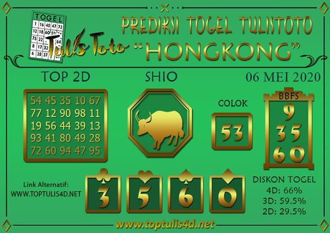 Prediksi Togel HONGKONG TULISTOTO 06 MEI 2020
