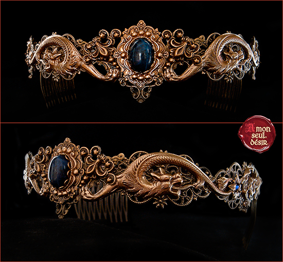 Couronne dragon bronze circlet medieval renaissance crown daenerys targaryen Game of Thrones Jewelry