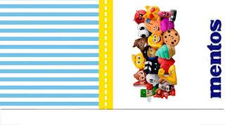 Etiquetas de Mentos de  Emoji para imprimir gratis.