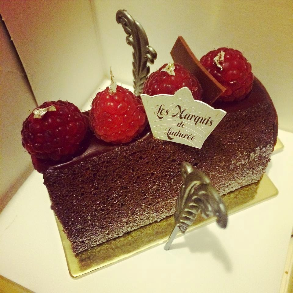 laduree cake chocolate raspberry