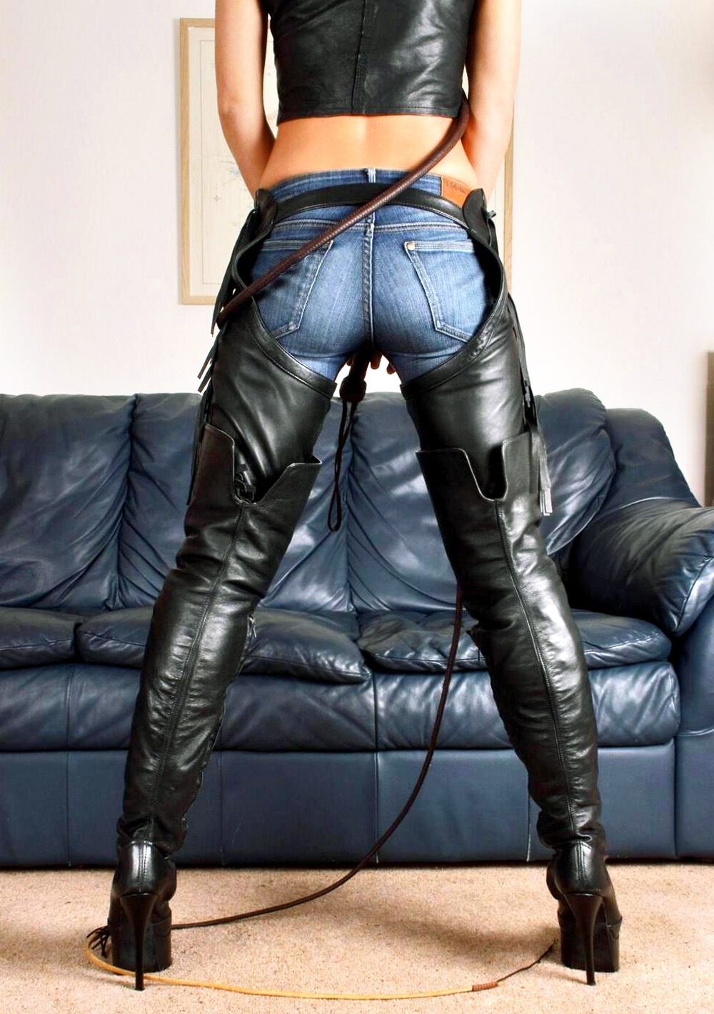 Mistress boots whip feet