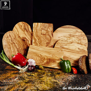 Cutting boards and chopping boards out of olive wood