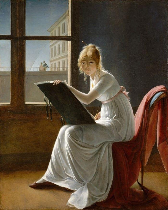 Мари-Дениз Вильер. Рисующая молодая женщина