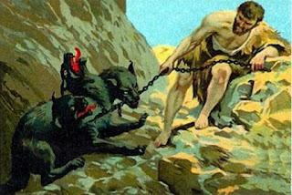 mito de hercules heracles captura de cerberos