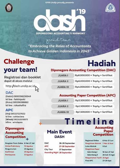 Lomba Accounting Nasional Mahasiswa Dash 2019 Terbaru