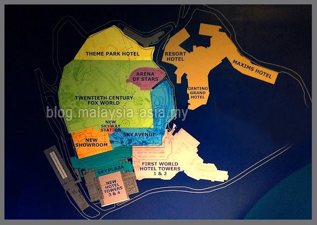 20th Century Fox World Genting Theme Park Map