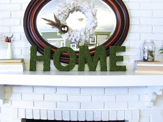 DIY PB knockoff moss letters
