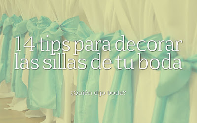 14 tips para decorar las sillas de tu boda