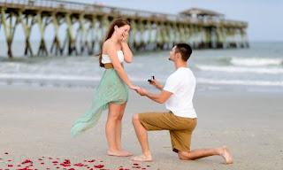 طلب زواج على الطريقة الرومانسية