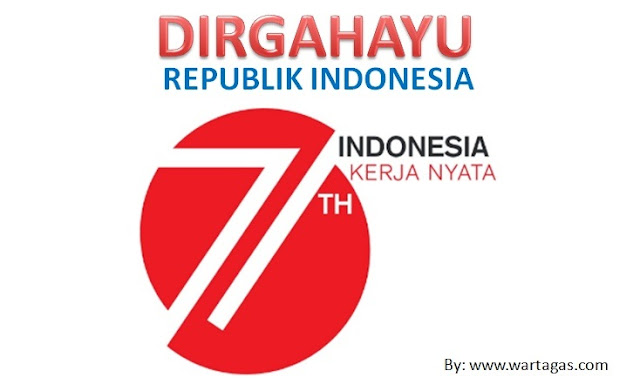 Sudah 71 Tahun Indonesiaku Merdeka - Logo HUT RI ke 71 Tahun - Indonesia Kerja Nyata