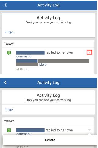 Facebook Timeline Activity Log