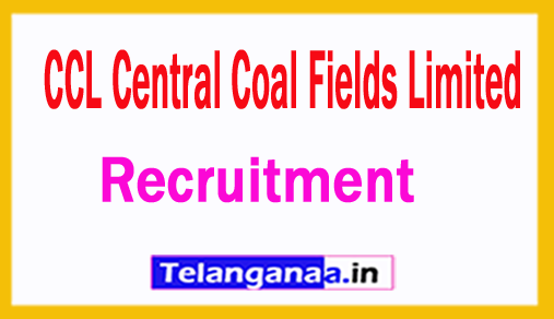 CCL Central Coal Fields Limited Recruitment 2018