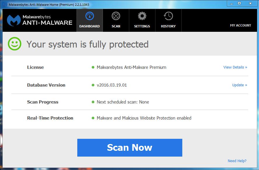 Malwarebytes Anti-Malware Premium 2.2.1.1043 License Key