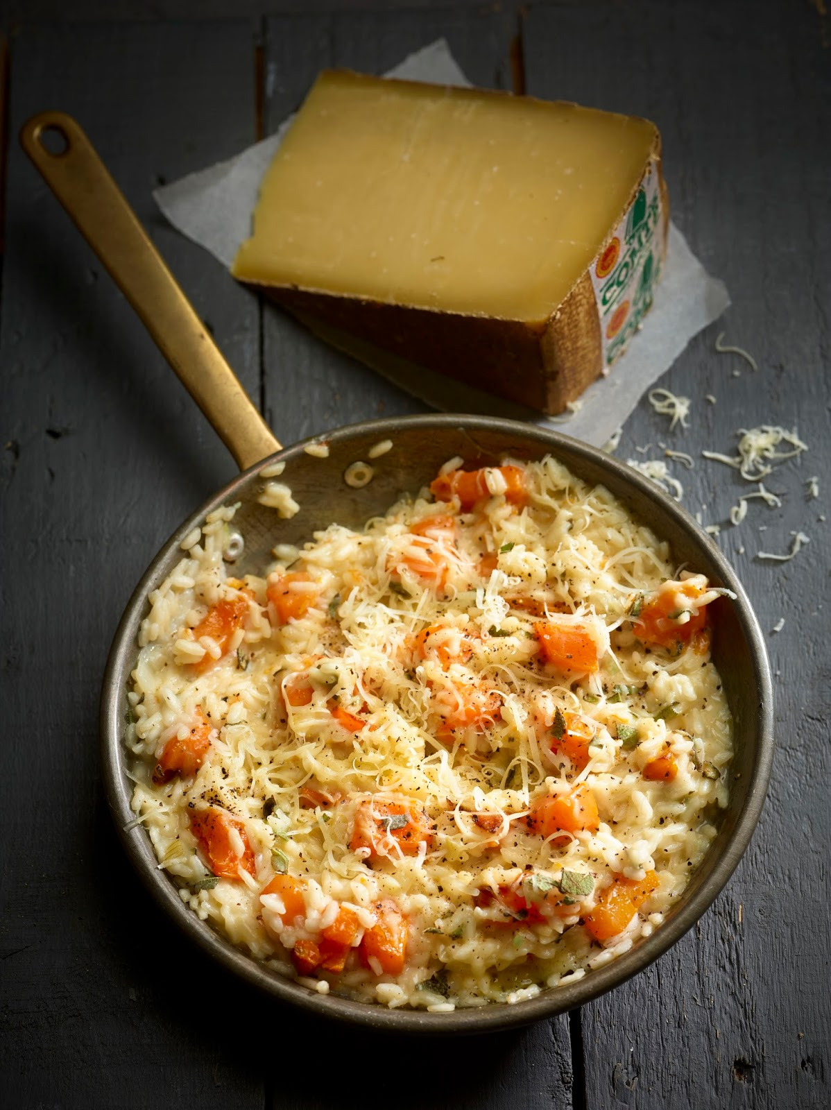 Butternut Squash, Sage And Comté Risotto