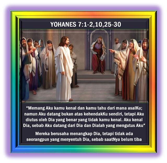 Yohanes 7:1-2,10,25-30