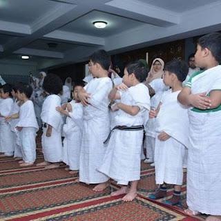 manasik haji anak dilakukan di dalam mesjid