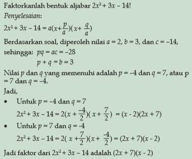 Rumus Matematika SMP Kelas 8 - Aljabar