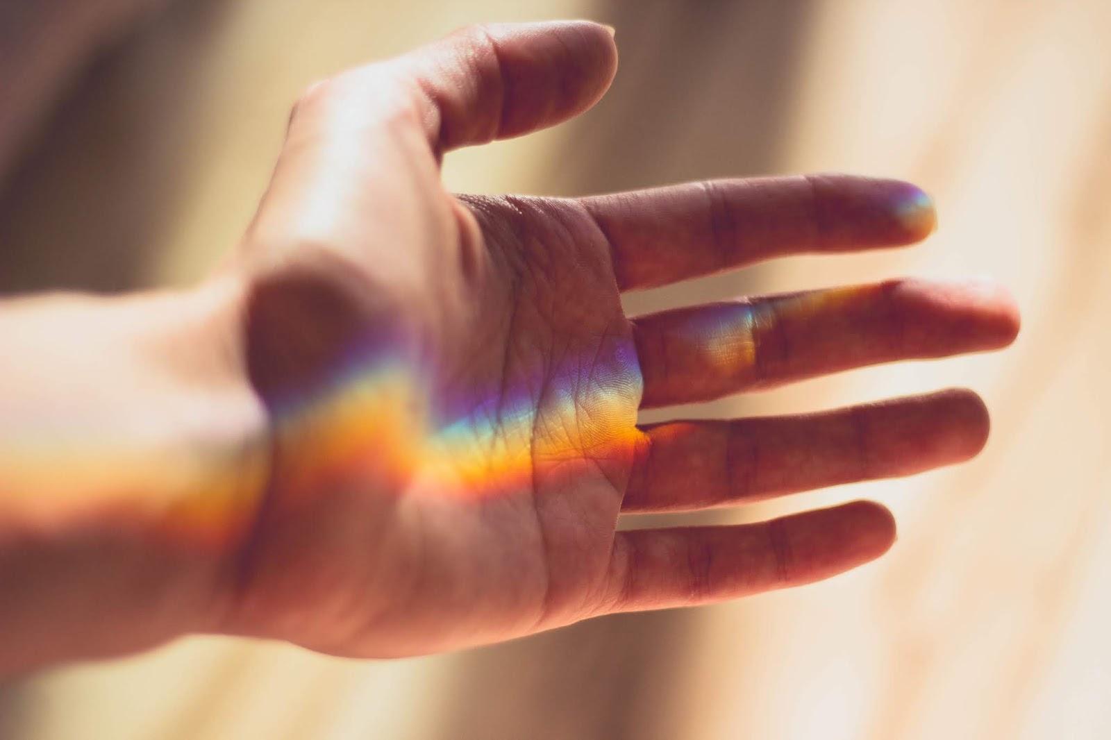 Mãos tumblr, arco íris, arquivos de rafaela