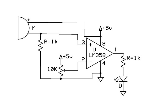 EMERGING TECHNOLOGIES: SOUND DETECTOR USING MIC AND LM358