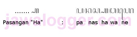 aksara pasangan ha dalam penulisan bahasa Jawa