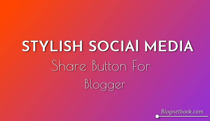 Floating Social media share button
