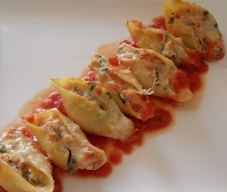 Vegetable Stuffed Shells Pasta