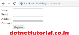 Registration form in asp.net  with sql procedure
